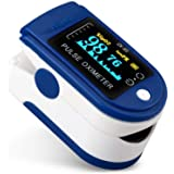 AZEADA Pulsossimetro da Dito, Saturimetro da Dito Portatile Professionale con Display LCD per Frequenza del Polso(PR) e…