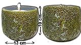 Der Perlenspieler® - Schmelzfackel In-/Outdoor-Typ Mini-Mooskugel-Tischlicht-Weihnachtsdeko-ca.9 cm x 10 cm-KOSTENLOSE Geschenkverpackung BIS Weihnachten!