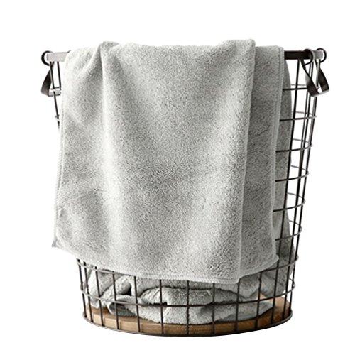 Yuncai candy-color morbido accogliente assorbente bambini asciugamano grigio chiaro 34*48cm
