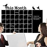 mensuel Tableau noir Tableau à craie Tableau noir Sticker mural Calendrier mémo DIY...
