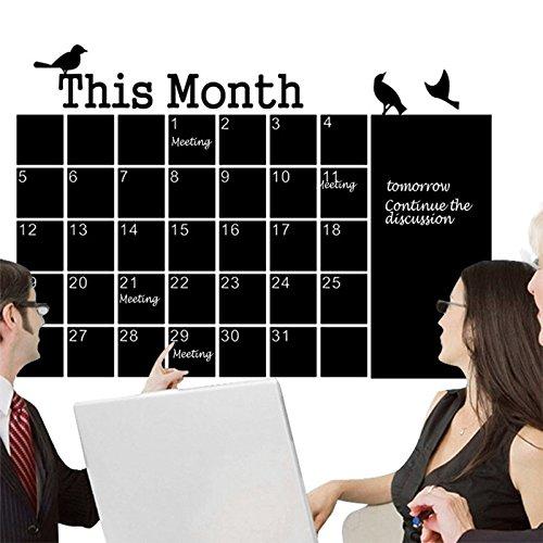 Monatliche Tafel Kreidetafel Tafel Wandtattoo Kalender MEMO DIY
