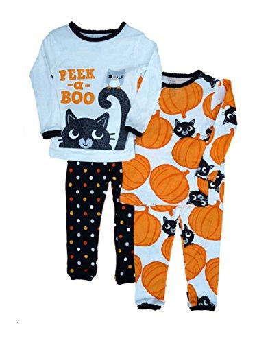 Größe 80 Langarm 2X Pajama 4 teilig US Size 18 Month Halloween Kürbis Pumpkin (80) ()