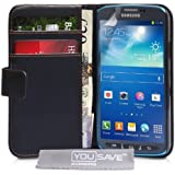 Yousave Accessories Coque en PU cuir pour Samsung Galaxy S4 Active Noir