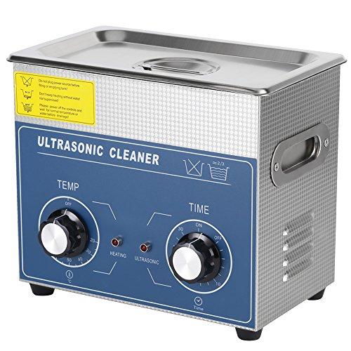 Cocoarm 1pc Edelstahl Digital Ultraschallreiniger Ultraschallreinigungsgerät Beheizte Reinigung Tank Maschine mit Heizung Digitale Timer und Korb (3L)