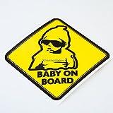 HastingsDesigner Sticker en vinyle avec inscription en anglais «Baby on board», pour voitures, vans, pare-chocs, vitres