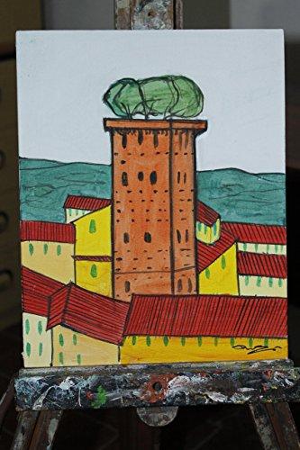 torre-guinigi-lucca-dipinto-fatto-a-mano-su-cartoncino-telato-eseguito-con-tecnica-ad-acrilico-dimen