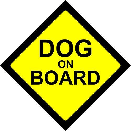 DOG ON BOARD Warnschild, Sicherheitshinweis, Vinyl-Aufkleber für das Autofenster