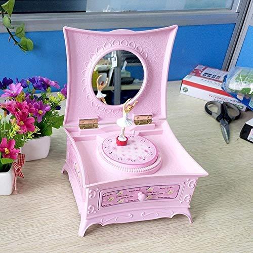 -Box Rotating Dance Girl Ballerina Piano Clockwork Jewellery Box Girls Carousel Hand Crank Music Gift3 ()