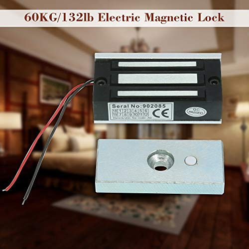 51V2sTD6knL - KKmoon 60KG / 132lb Cerradura Eléctrica de Perno NC 12V para Sistema de Control Acceso Entrada de Puerta
