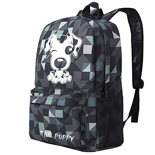 FZHLY Cute Cartoon Puppy Modello Di Borsa A Tracolla,Black Blue