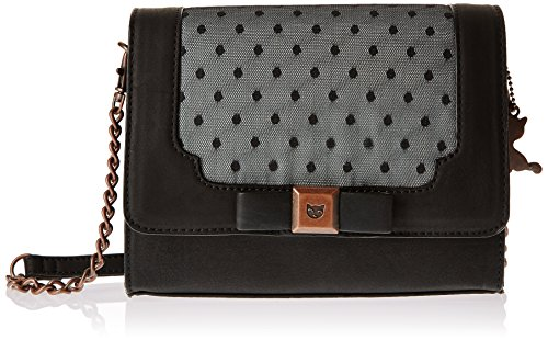 Lollipops Yber 22190, Borsa a spalla donna , Nero (Black (nero)), Taille Unique