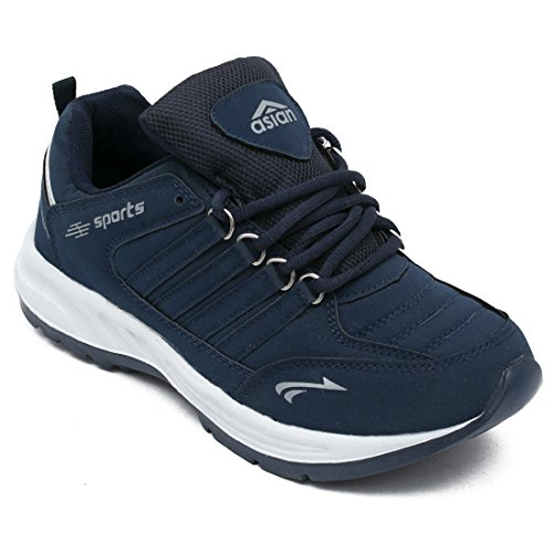 ASIAN Men's Cosco Navy Blue Walking Shoes