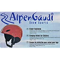 AlpenGaudi Kinder Helm, Rot, 54-60 cm, 10994412