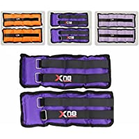 Ankle Weights Purple Double Velcro Adjustable Resistant Leg Wrist Strap Running Cross Fitness Gym Training Exercise