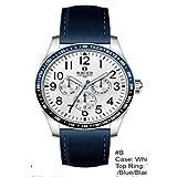 adeff288d Racer Reloj Cronógrafo para Hombre de Cuarzo con Correa en Piel  antialergica R505