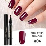 Gaddrt Neu Nagellackstift 1 Stück 3 in 1 Schritt Nagelgel Lacklack Pen One Step Nagel UV Gel verwenden (D)