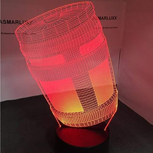 Il odm dell'oem della lampada di notte della lampada della brocca 3d led della lampada di chug personalizza il trasporto di goccia con tutte le forme regalo di spettacolo della luce di cambiamenti di colori di 7 forme,ddbbhome