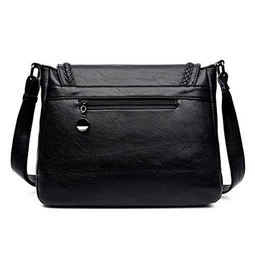 LAIDAYE Frau Tasche Freizeittasche Kuriertasche Mit Großer Kapazität Tasche Umhängetasche Black