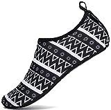 SAGUARO Escarpines Hombre Mujer para Buceo Snorkel Surf Natación Piscina Vela Mares Rocas Río Zapatos para Agua Calzado Playa Zapatillas Deportes Acuáticos (Bohemia Negro,38/39 EU)