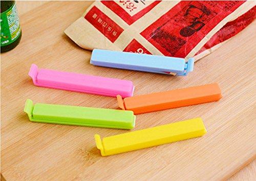 flowerkui 30PCS Kunststoff Lebensmittel Speicher Tütenklammern clip-multicolor zufällige (Kunststoff-speicher)