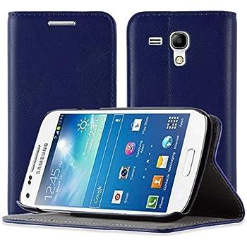 JAMMYLIZARD | Ledertasche Flip Cover für Samsung Galaxy S3MINI, Dunkelblau