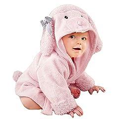 Idea Regalo - Asciugamano per Bambini, Uraqt Animal Asciugamano da Bagno Doccia dei Neonati e Piccini con Cappuccio, Extra Morbido