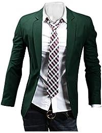 Uomo Slim Fit Elegante Vestito di Affari Una fibbia Cappotto Giacca Blazers Top Outwear