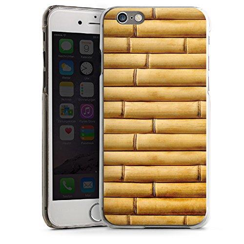 Apple iPhone 5s Housse Étui Protection Coque Natte en bambou Tuyaux en bambou Look motif CasDur transparent