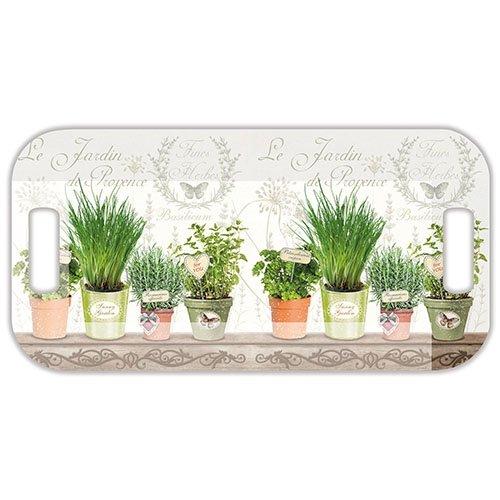 Ambiente Tablett Le Jardin de Provence Kr?utergarten, Melamin Tee Tablett 39?x 20?Zentimeter Jardin Tee