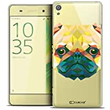Caseink - Coque Housse Etui pour Sony Xperia XA [Crystal HD Polygon Series Animal - Rigide - Ultra Fin - Imprimé en France] - Chien