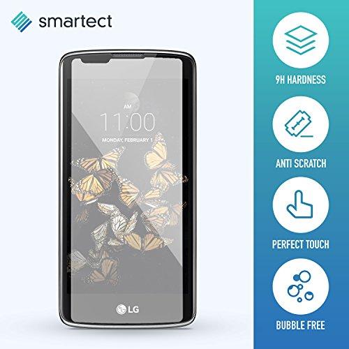 smartect® LG K8 Premium Panzerglas Display-Schutzfolie aus gehärtetem Tempered Glass | Gorilla-Glas mit Härtegrad 9H | Panzerfolie - Top-Schutzglas gegen Kratzer (0,33 mm, gerundete Kanten)