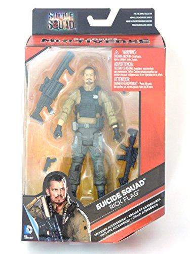 Suicide Squad Rick Flag Figur mit Bewaffnung Figurengröße ca 15 cm