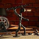 NYDZ Lampe de table vintage industrielle de tuyaux d'eau de fer, lampe simple de fermier simple simple américain, lampe de table pour la table de chevet Lampe de lecture de robot de cave à vin de cave