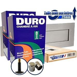 """2 x DURO Chambres à air - 26"""" x 1.75 / 1.95 (47/50 - 559) - Valve Schrader + capuchons de valve métal (3,95 EUR !) inclus !"""