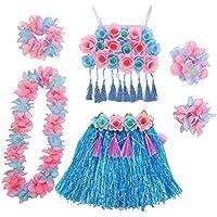 TENDYCOCO Traje de alto rendimiento Conjunto de corsé para niñas, azul