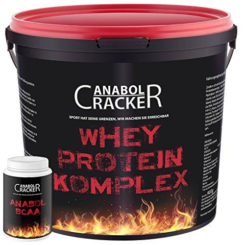 Whey Protein Creatin Komplex, 900g Eiweißpulver + Anabol BCAA, 454g Dose, Aminosäuren (Banane)