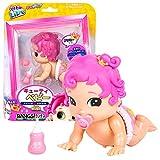 Little Live Bizzy Bubs 34728 - Baby Wirbelwind Prinzesschen Primmy, Babypuppe prunkvolle Prinzessin für Kinder ab 5 Jahre, Puppe krabbelt und spricht, Funktionspuppe mit Zubehör, Püppchen ca. 13 cm