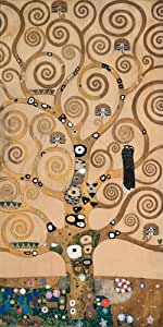 Arbre de Vie II de Gustav Klimt, Alu-Dibond, 110 x 220cm