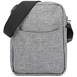 Mi-Pac Mi-Pac Flight Bag Crosshatch Bolso Bandolera 21 Centimeters Gris (Grey)