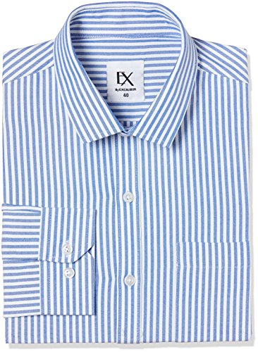 Excalibur by Unlimited Men's Solid Regular Fit Formal Shirt (Pack of 2) (400017304304_ASSORTED_40)