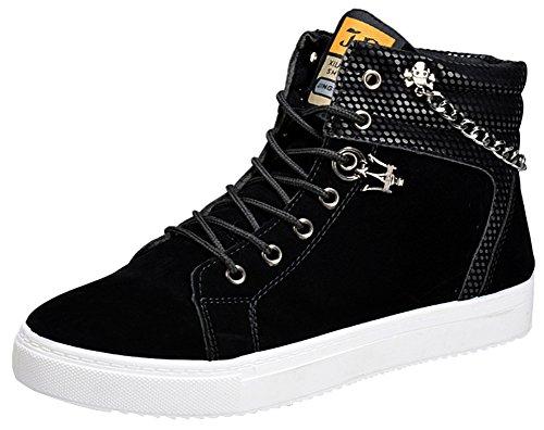 wealsex Basket Daim Montantes Sneakers Casual Haute Homme