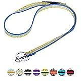 Blueberry Pet 3M Reflektor Bunte Streifen Ingwer und Blau Herren Damen Mode Anti-Würge Umhängeband Lanyard Schlüsselband für Schlüssel / Ausweis / Anhänger mit Sicherheits-'Breakaway'-Schnalle