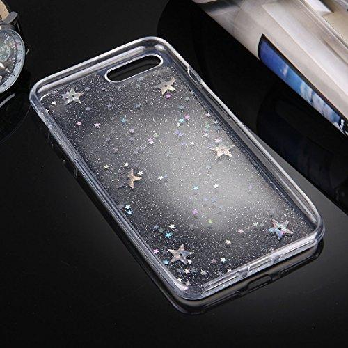 Hülle für iPhone 7 plus , Schutzhülle Für iPhone 7 Plus Flash Powder Twinkling Schneeflocken Pattern Soft TPU Schutzhülle ,hülle für iPhone 7 plus , case for iphone 7 plus ( Color : Silver ) Silver