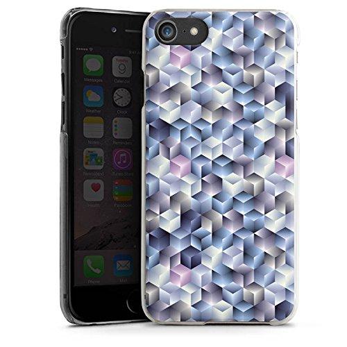Apple iPhone X Silikon Hülle Case Schutzhülle 3D Illusion Pastell Hard Case transparent