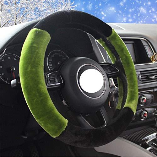 Preisvergleich Produktbild XUEYAN Universal-38cm warme Lenkrad Abdeckung High-Density-Flusen Mode Cover Slip / tragen beständig (Farbe : C,  größe : 38cm / 14.96inch)