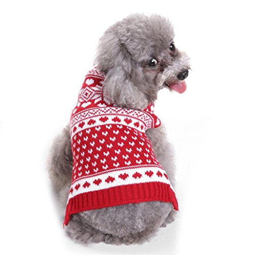 Kostüm Pet Turtle - sunwords Turtle Neck Warm Pet Hund Strickpullover Pullover PUPPY Kostüme für Weihnachten Halloween
