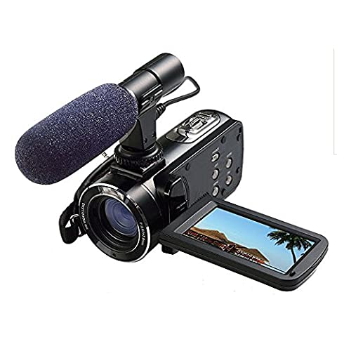 Ordro Full HD Digital Video Camera with External MIC, Model HDV-Z20 (Includes 8GB SD Card as a Free Bonus!) - Digital Camcorder with Professional Camera Mounted Shotgun Boom Microphone by Emperor of
