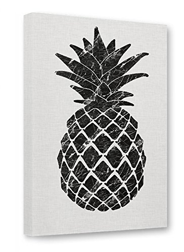 artboxONE Leinwand 150x100 cm Abstrakt Geometrie Natur Essen & Trinken 'Marble Pineapple' grau...