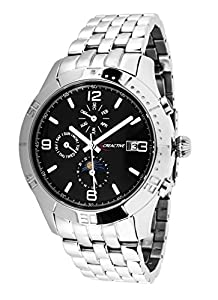 Creactive CA120116 - Reloj analógico de pulsera para hombre (automático), correa de acero inoxidable plateado de Creactive