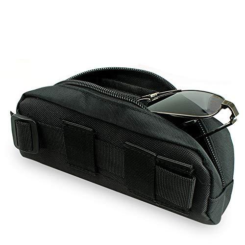 Gexgune Tactical Molle Portable Sonnenbrillenetui Brillenbeutel Brillenetui für den Außenbereich(Schwarz)